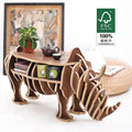 Fábrica LIBRE del envío al por mayor Europea DIY Arte Artesanías Casa Decoración de regalo de madera del arte de Rinoceronte escritorio auto-construcción rompecabezas muebles