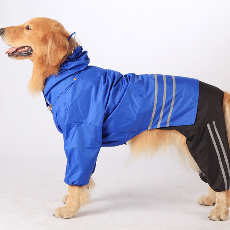 Big Dog Raincoat Golden Retriever Raincoat Dog Waterproof Clothing Pet Supplies