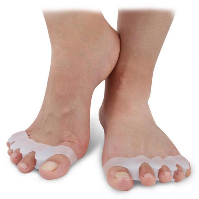 1Pair Silicone Insoles Gel Bone Toes Seperator Hallux Valgus Pads Pro Corretcor Anti-Slip Shoe Mat comfortable Foot Care tool W3