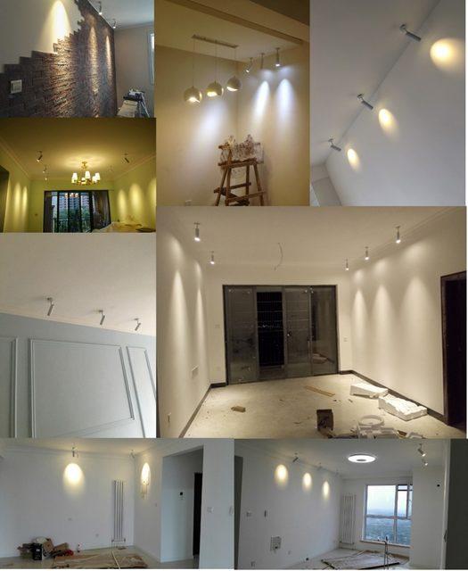 ceiling spot lighting. LED Picture Light Spotlights Tracking Led Spot Lamp Indoor Surface Mounted Wall Spotlight Ceiling Lighting Fixtures T