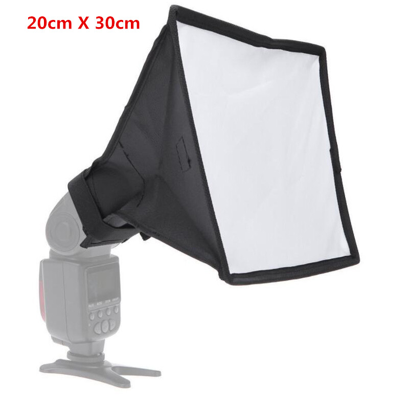 Universal 20x30cm DSLR Camera Flash Diffuser Foldable Soft Box For Nikon For Sony For Canon DSLR Portable Camera Accessories