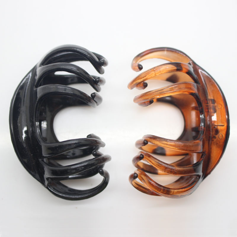 Retro black / tortoiseshell color hair claws large jaw hair clips womens plastic hair clips hair accessories