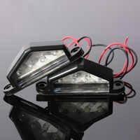 1pcs 10-30V 12V 24V LED Rear Truck Trailer Lamp License Number Plate Light License Plate Lamp Waterproof Triangle