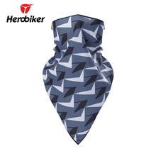 HEROBIKER Motorcycle Face Mask Bicycle Bike Cycling Scarf Moto Face Mask Camping Hiking Dustproof Neckerchief Scarves Headband