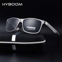 HYBOOM High Quality Aluminum Magnesium Frame Polarized Sunglasses For Men UV400 Driving Sports Sun Glasses Outdoor