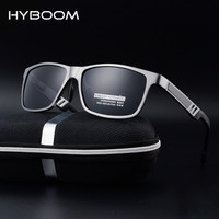 HYBOOM High Quality Aluminum Magnesium Frame Polarized Sunglasses For Men UV400 Driving Sports Sun Glasses Outdoor