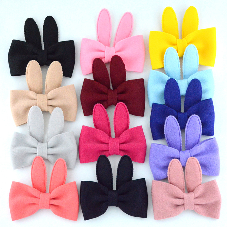 New 13 Colors 5pcs/lot Handmade Bow Cute Rabbit Bunny Ears For Baby Girls Diy Headwear Clothing Shoes And Hats Hair Accessories
