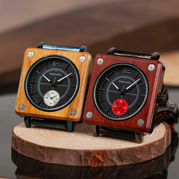 BOBO BIRD 2019 Square Design Unisex Wooden Watches
