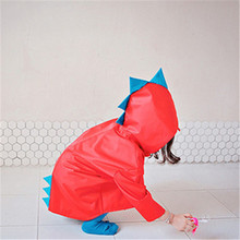 Rain Coat Kids Girls Boys Waterproof Long Cute Dinosaur Polyester Children Raincoat Pvc Yellow Jacket Impermeable Red