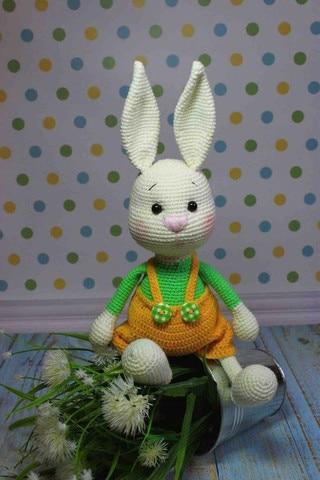 crochet brinquedos amigurumi lebre numero modelo b0148