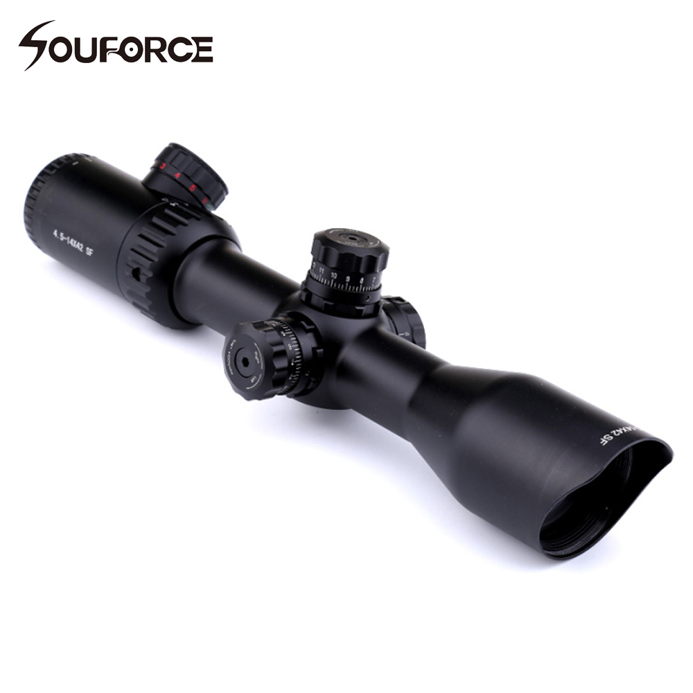 Hunting Riflescopes 4.5-14X42 Side Focus Tactical Optical Scope Sight Tube Diameter 30 mm Fits for 11mm/20mm Rail marcool 4 16x44 side focus front focal plane optical sights rifle scope hunting riflescopes for tactical gun scopes for adults