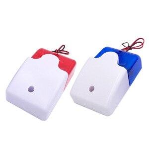 Wired strobe sirene mini lampje geluid alarm lamp HH-103 knipperlicht rood 12 V 24 V 220 V(China)
