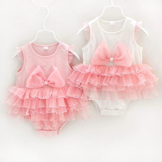 4b43fbac3 2017 mamelucos del bebé del verano del cuerpo 100% algodón bebé traje de  princesa party