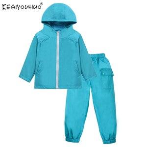 Crianças meninos roupas de outono treino para meninas conjuntos capa chuva ternos do esporte jaquetas + calças 2 pçs crianças blusão conjuntos 2 4 5 6