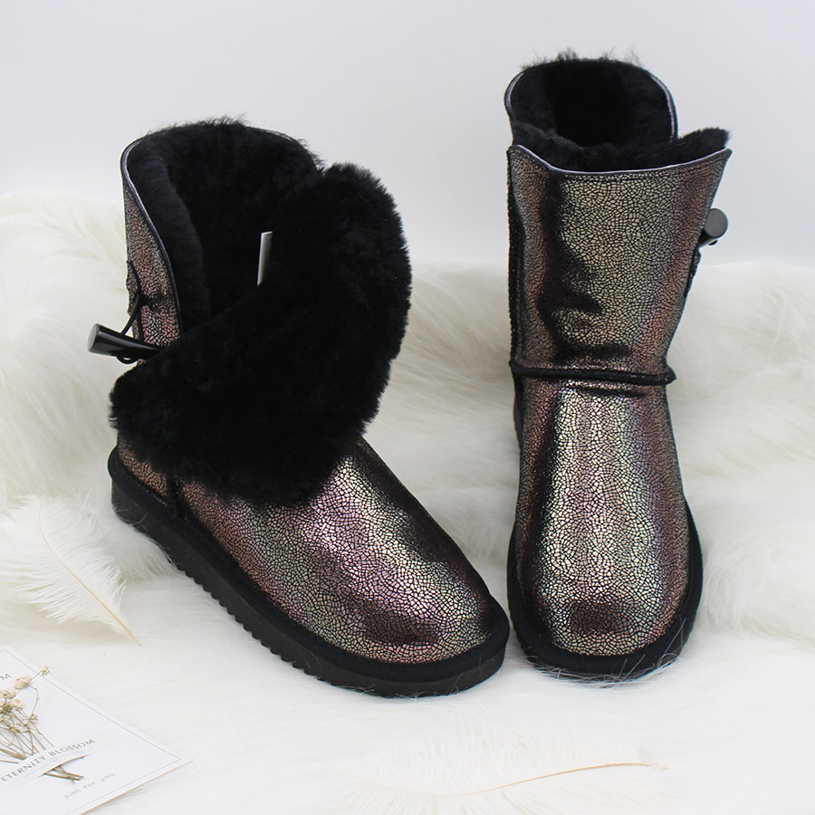 Free Shipping! 2018 Genuine Cowhide Leather Snow Boots Australia Style Classic Women Boots Women Shoes Warm Winter Boots australia classic lady shoes high quality waterproof genuine leather snow boots fur winter boots warm classic women ug boots