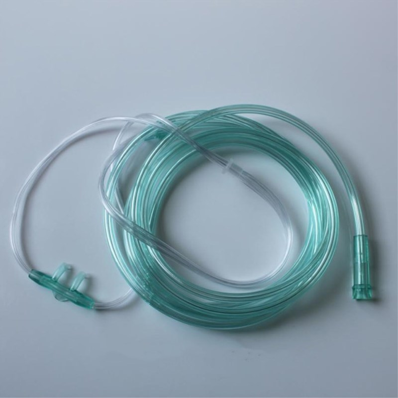 20 Pcs/set Nasal Oxygen Cannula 2 M Disposable Soft Double Nasal Straw Type Home Oxygen Suction Tube For Inhaler Machine