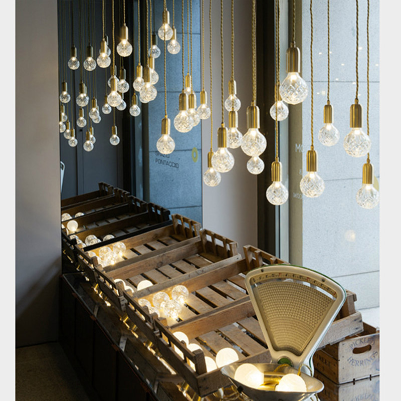 Nordic chandelier personality art restaurant bar bedside chandeliers simple entrance hall floating window crystal chandeliers