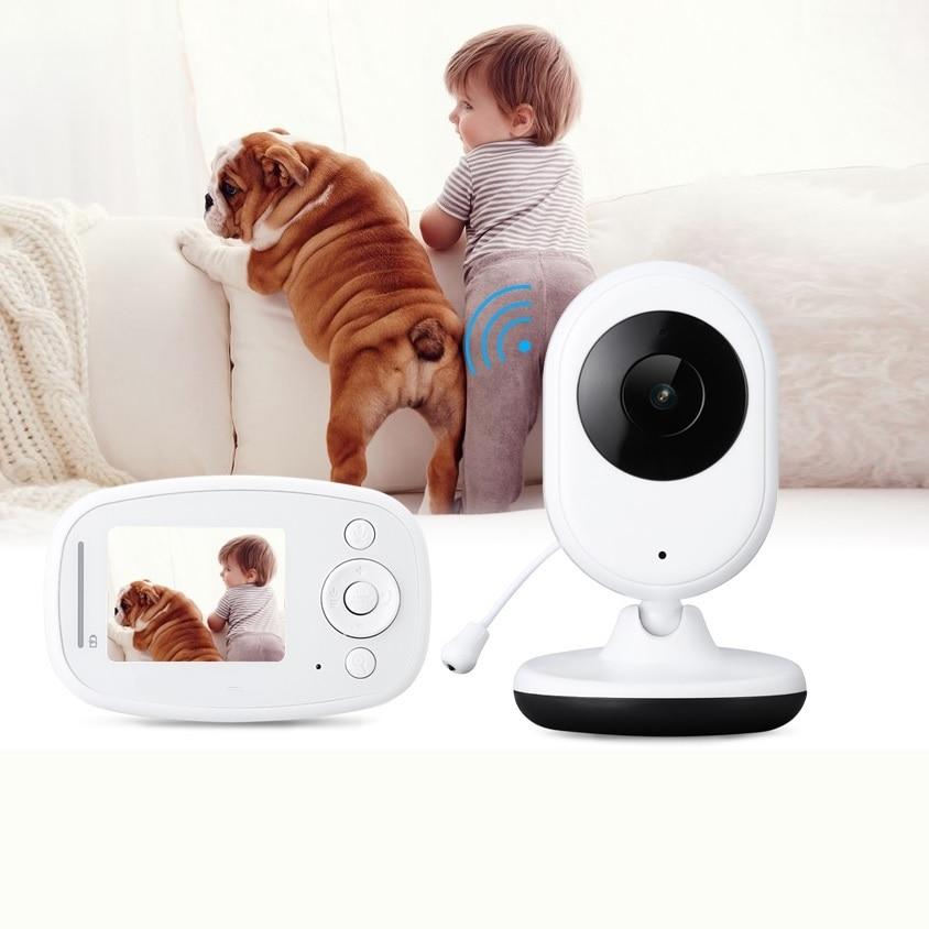 Babykam bebek kamera audio nanny 2.4 inch IR Night Vision Intercom Temperature Monitor Zoom Video ON/OFF baby camera video nanny