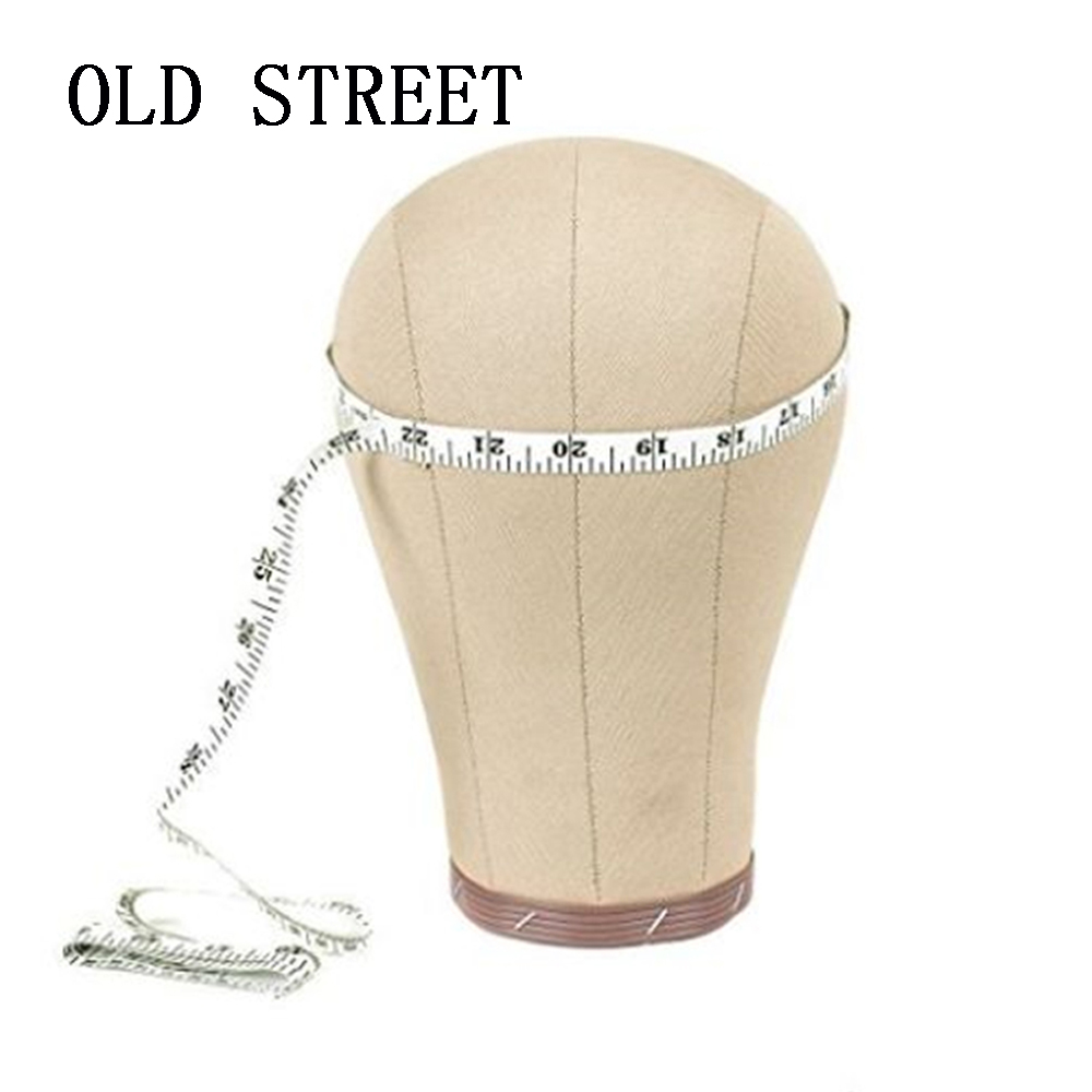 22 Cork Canvas Block Head Mannequin Head Wig Display Styling Head With Mount Hole Free Clamp + T-pins 21 22 22 5 23 23 5 24 canvas block head mannequin head weft wig display style styling manikin head cork inside