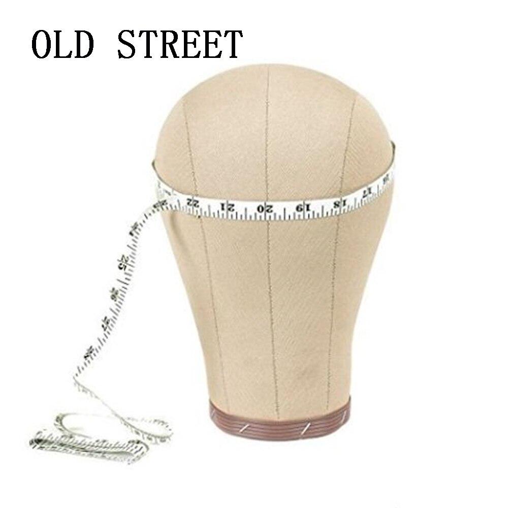 22 Cork Toile Bloc Tête Mannequin Tête Perruque Affichage Style Tête Avec Le Mont Trou Livraison Pince + T- pins