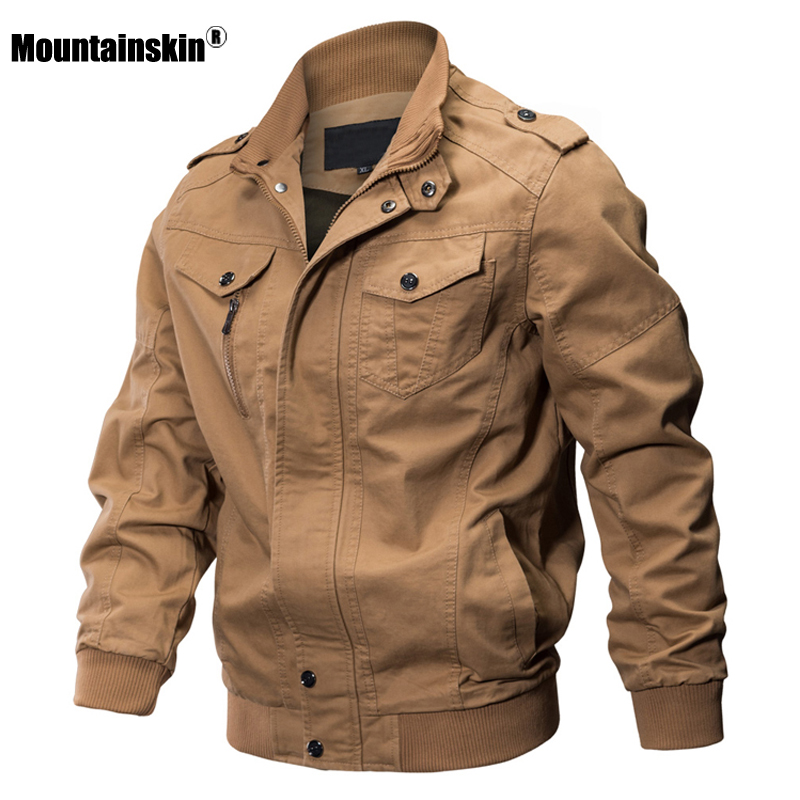 Mountainskin 2020 Autumn Spring New Men's Jackets Military Solid Casual Coats Fashion Slim Fit Male Brand Clothing 6XL SA731
