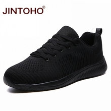 JINTOHO Big Size Black Men Sneakers Breathable Fashion Casual Shoes For Men Cheap Casual Male Shoes Brand Male Sneaker Chaussure