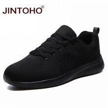 JINTOHO גדול גודל שחור גברים נעלי ספורט לנשימה אופנה נעליים יומיומיות לגברים זול מזדמן זכר נעלי מותג זכר Sneaker Chaussure