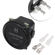 DC 10~80 V High Accuracy Boat Car Truck Engine Round Hour Meter Gauge -B119