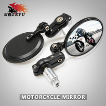 7/8 Universal Black Motorcycle Rearview Mirrors for yamaha YZF R125 R15 R25 r 125 15 25 mt-07 mt-09 mt 07 09 MT-09 FZ07 FZ09