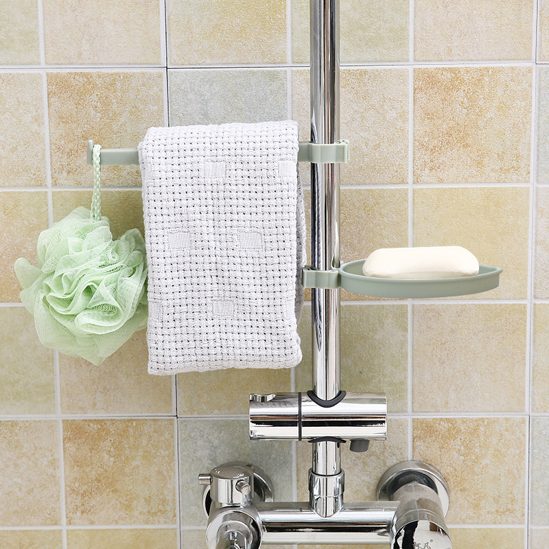 Image 4 - Sink Hanging Storage Rack Storage Holder Sponge Bathroom Kitchen Faucet Clip Dish Cloth Clip Shelf Drain Dry Towel Organizer-in Racks & Holders from Home & Garden