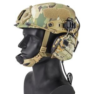 Image 2 - 빠른 헬멧을위한 전술 헤드셋 arc 헬멧 레일 어댑터가있는 군용 소음 감소 헤드셋 사냥 항공 comtac 헤드폰