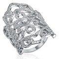Мода Серебряные Кольца для Женщин Белый Позолоченные Ювелирные Изделия CZ Алмаза женской кольцо anillos mujer обручальные кольца bague femme