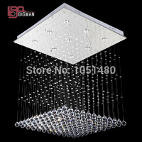 Top Sales Flush Mount Contemporary LED Crystal Chandelier Home Lighting With Crystal Balls L60 W60 H80CM