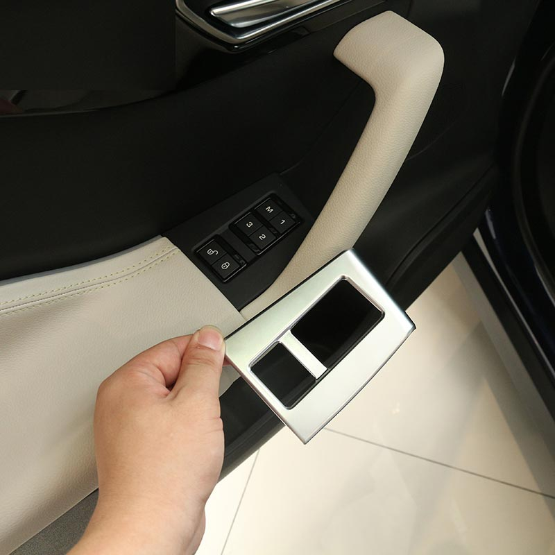 ABS Chrome Car Door Seat Memory Button Cover Trim For Jaguar F-Pace f pace 2016 Car Styling Accessories