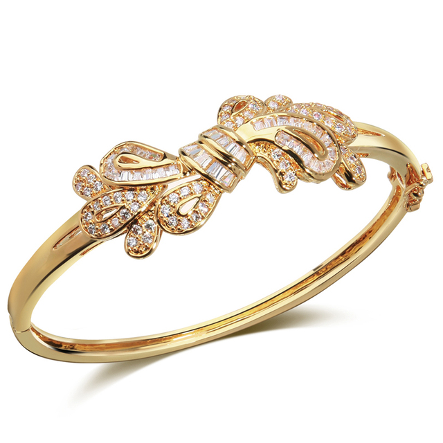 Indian Bangles women bracelets Shopping Festival gold plated with Cubic zirconia bangle fashion jewelry free shipping