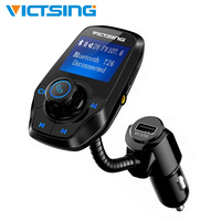 44 VicTsing Upgraded Bluetooth FM Transmitter Music Player Wireless Radio Transmitter with 1.44
