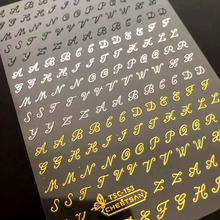 TSC série grande taille Tsc 153 lettre 3d nail art autocollants décalcomanie cheetsan marque modèle bricolage ongles outil décorations