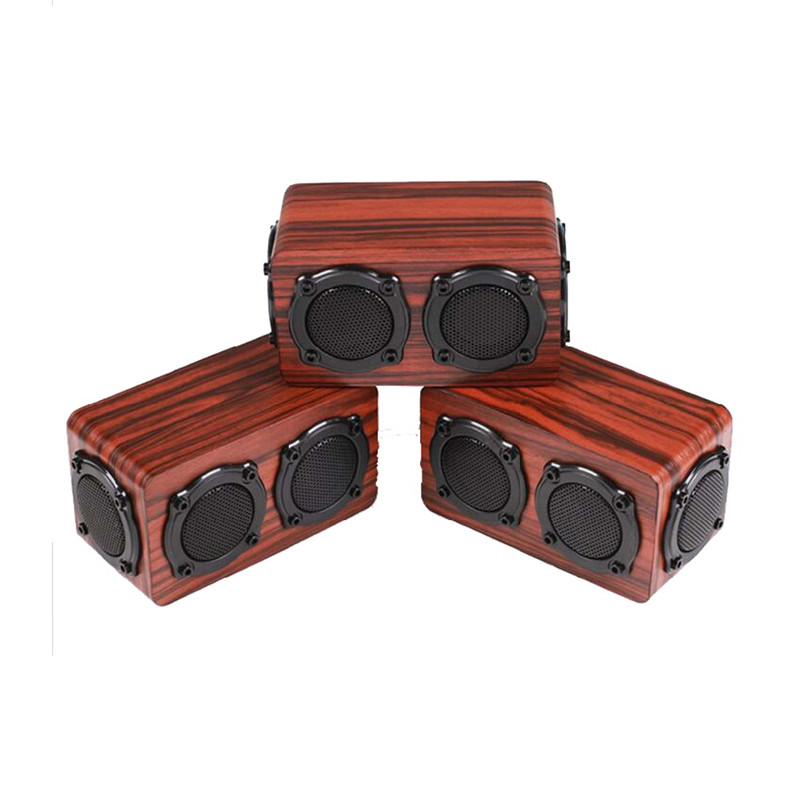 ihens5 X6 Bluetooth speaker Portable Wireless Stereo Wooden Speakers Column Double Bass Treble Loudspeaker for computer phones