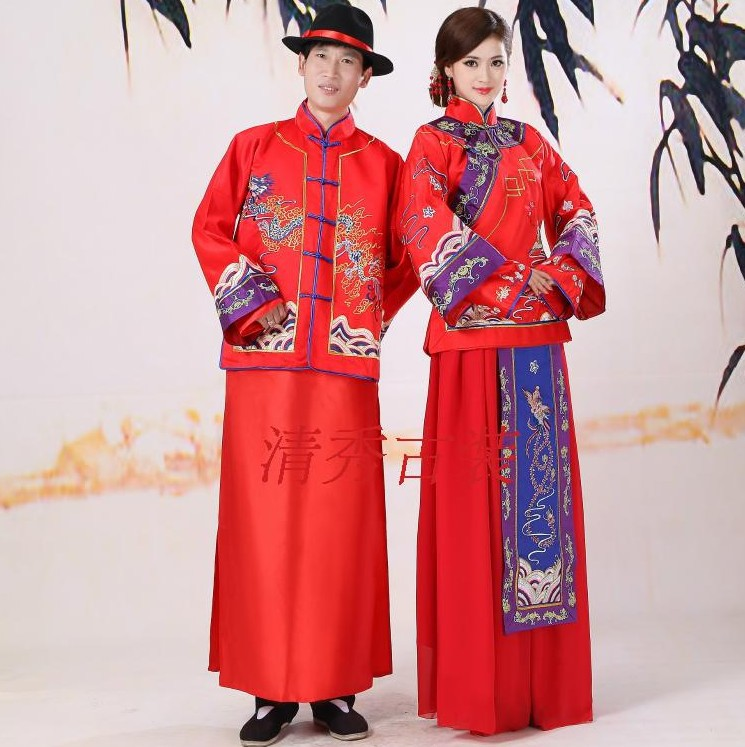 Free shipping Traditional Chinese wedding dress in ancient ...