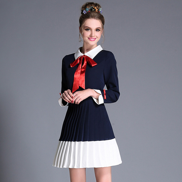 L- 5XL White Collar Women Plus Size Autumn Mini Dress Bow Knot Detail Young  Ladies 1db339e8afcd