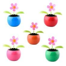 834601a54f3aca Car Cute Swing Solar Powered Dancing Flower Toys Sunflower Flip Flap Bobble  Plant Swing