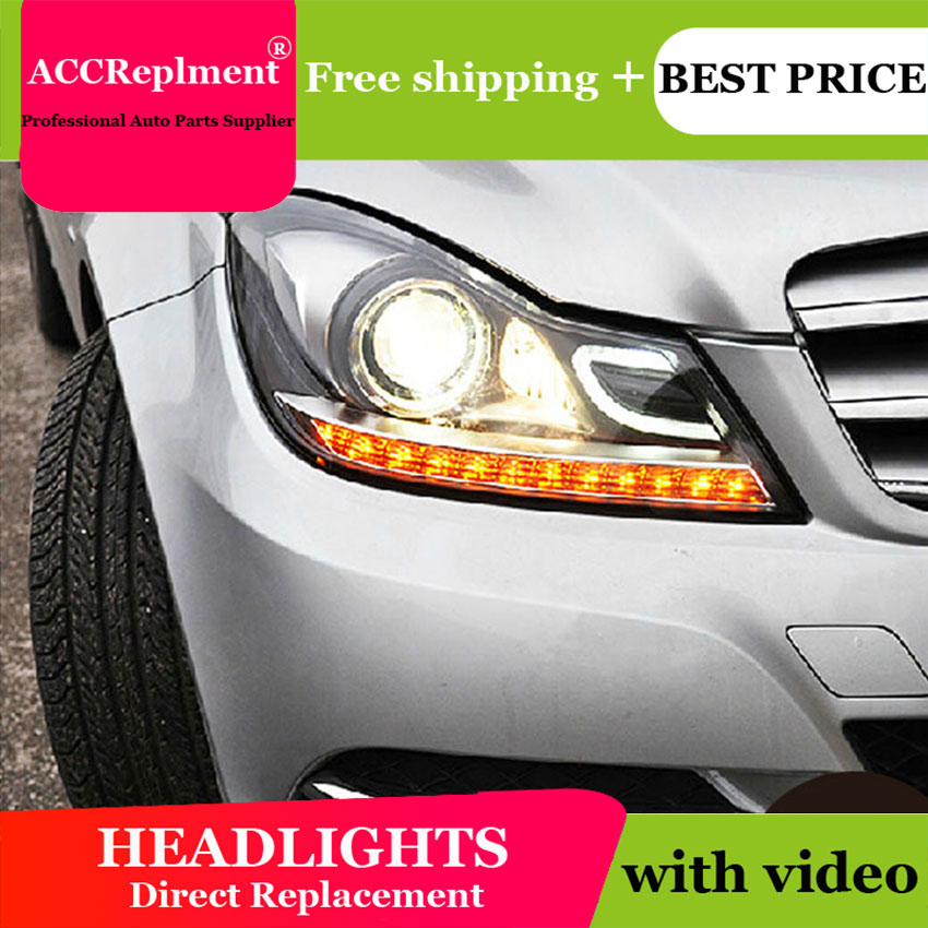 🛒 Car Styling LED Head Lamp for Benz W204 headlights 2011
