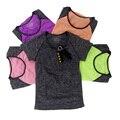 Suor seca Rápida camisa de Fitness T Apertado Camisetas Casuais para As Mulheres, casa de Manga Curta Respirável Camisetas Lazer Magro Tops