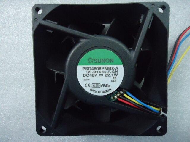 Оригинальный инверторный охлаждающий вентилятор Sunon PSD4808PMBX-A 80*80*38 мм 48 Вт 22,1 Вт