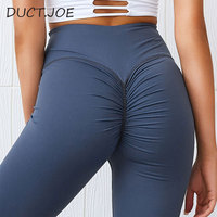 DUCTJOE New Leggings For Fitness Solid High Waist Casual Shaping Leggins With Waist Active Wear Leggings Women Peach Hip Pants