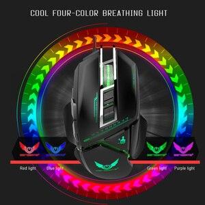 Image 5 - ZERODATE USB wired עכבר ארגונומיה 3200 DPI מתכוונן מכאני עכבר חיפושית Creative 3D משחקי עכברים RGB מגניב תאורה אחורית לילה