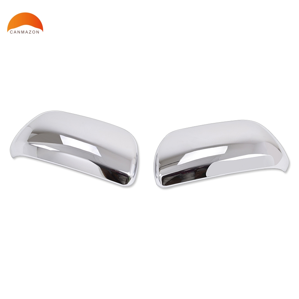 For Toyota Highlander 2008 2009 2010 2011 2012 2013 ABS Chrome Side Door Rearview Mirror Cover back Mirror Trims Auto Model 2pcs