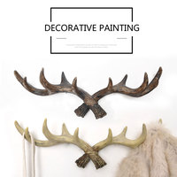 American Vintage Antler Home Decor Hook Creative Clothing Store Entrance Deer Wall Hanging Decorate Personalized Wall Key Hanger