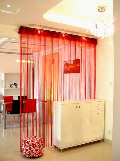 Free Shipping Multi Color Door Window Panels String: Solid Color String Curtain 1 M*2m Decoration Partition