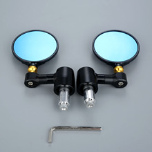 Universal Motorcycle Mirrors Round Side Rear View Billet Aluminum Fit For Motorcycles 7/8 Handle Bar End